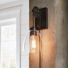 Create a modern and stylish design in your dwelling with this Home Decorators Collection Industrial Pulley Light Clear Glass Plug-in Wall Sconce with Bulb. Bedside Wall Lights, Plug In Wall Lights, Plug In Wall Sconce, Wall Mounted Lamps, Wall Sconce Lighting, Wall Sconces, Wall Lamps, Bedroom Wall Lights, Bar Lighting