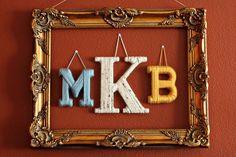 framed monogram.