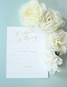 We gave you a sneak peek of our new Marriage Certificate on Pinterest a few days ago, but you can now find it in the Southern Weddings Shop!  This pretty, filled in with your wedding details, is bound to become a family heirloom