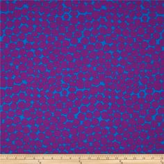 Kaffe Fassett Jumble Purple from @fabricdotcom  Designed by Brandon Mably for Westminster, this cotton print is perfect for quilting, apparel and home decor accents. Colors include plum and blue.