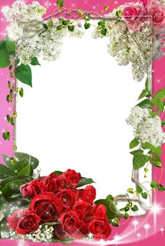 """Roses in exotic garden"" Borders For Paper, Borders And Frames, Diy Photo Frame Cardboard, Frames Png, Picture Borders, Page Borders Design, Photo Frame Design, Family Photo Frames, Framed Wallpaper"