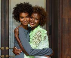 Ethiopian friends/models: Liya Kebede and mentor Waris Dirie Liya Kebede, Natalia Vodianova, Lily Aldridge, Cindy Crawford, Heidi Klum, Curl Formers, Curly Hair Styles, Natural Hair Styles, Natural Beauty