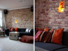 My boyfriend and I created this brick wall last year.    passionsforfashion.dk/2011/05/diy-brick-wall/