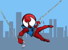 Scarlet Spider chibi by ~CrimsonStar6 on deviantART