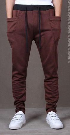 2015 Unique Pocket Men's Cargo Joggers Sweatpants