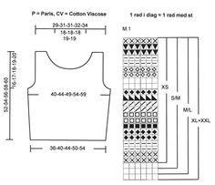 """Gehäkeltes DROPS Top in """"Paris"""" und """"Cotton Viscose"""" ~ DROPS Design"""