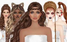 Covet Fashion, Disney Characters, Fictional Characters, Barbie, Female, Disney Princess, Hair, Makeup, Baby Dolls