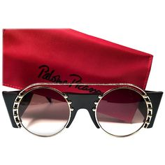 8143ada9bb41f New Paloma Picasso Vintage Oval Black 3729 Lady Gaga Sunglasses Germany 1980
