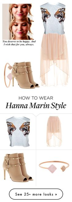 """""""Hanna Marin - pll / pretty little liars"""" by shadyannon on Polyvore featuring Miss Selfridge, Michael Kors and Valentino"""