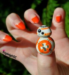 May the 4th be with you 😁 #StarWars BB-8 #NailArt x
