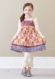 City of Lights Knot Dress - Secret Fields - Fall 2014 - Starts at size 12 months -  Try it with our Mixed Berry Ruffle leggings