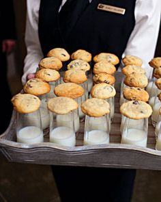 chocolate chip cookies and milk shooters!