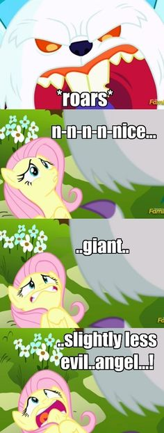 The Lesser of Two Evils Mlp Comics, Funny Comics, Mlp Memes, Funny Memes, Evil Angel, Mlp My Little Pony, Fluttershy, Worlds Of Fun, Lps