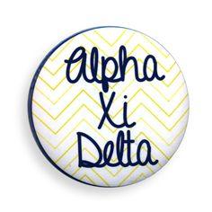 Alpha Xi Delta Chevron Script Button from GreekGear.com