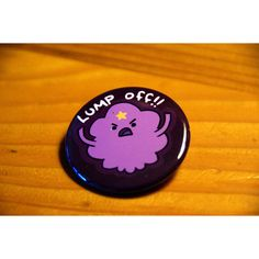 ADVENTURE TIME BUTTON--Lumpy Space Princess ($2.50) ❤ liked on Polyvore