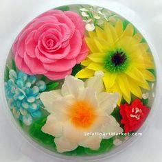 Flowers Drawn in Clear Jello! Gelatin Art Dessert