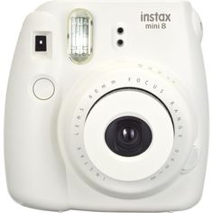 Fujifilm Instax Mini 8 Instant Film Camera (White) (196.195 COP) ❤ liked on Polyvore featuring camera, fillers, accessories, electronics and tech