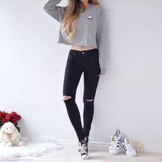 Korean Fashion – How to Dress up Korean Style – Designer Fashion Tips Teen Fashion Outfits, Cute Fashion, Outfits For Teens, Fall Outfits, Girl Fashion, Summer Outfits, Womens Fashion, Fashion Shoes, Summer Dresses