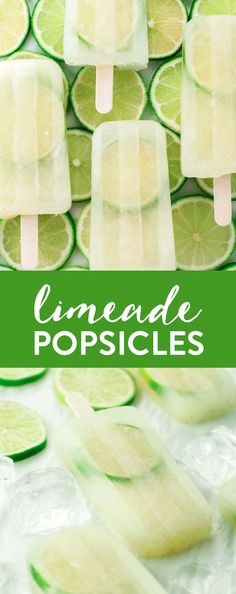 Limeade Popsicles | http://asimplepantry.com