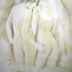 'Lesbians' by Corina Chirila Coffee Painting, Lesbians, Classic T Shirts, Paintings, Fictional Characters, Art, Paint, Painting Art, Kunst