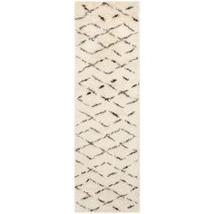 Casablanca Ivory/Brown 2 ft. 3 in. x 8 ft. Runner