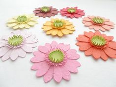 50 Plantable Paper Gerbera Daisies  Eco Friendly by PaperSprouts, $75.00