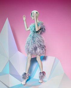 ALEXANDER McQUEEN. BEAUTIFUL FUTURE  AUTUMN/WINTER 2012 CAMPAIGN #future #modern #fashion #editorial #pink #pastel