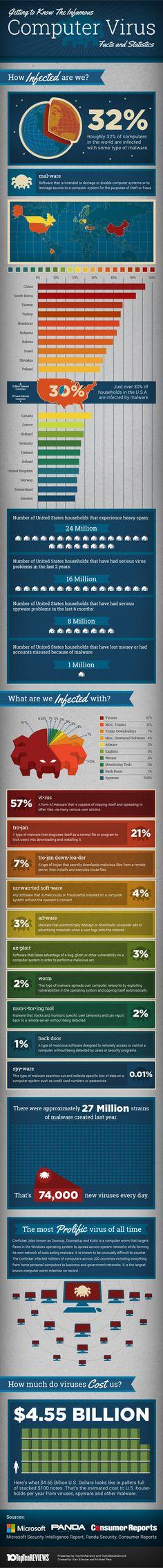 computer viruses infographic