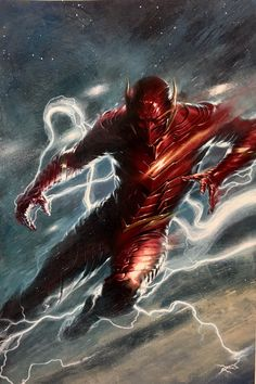 DC Comic Book Artwork • Red Death By Gabriele Dell'Otto. Follow us for more awesome comic art, or check out our online store www.7ate9comics.com