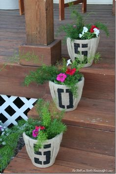 These house number planters are a great way to spruce up your front porch or walkway.