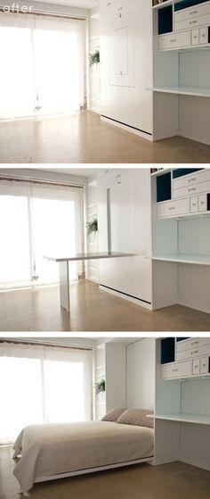 space-saving design by General Assembly - minimalism, minimalist living space, small space design, space-saving furniture, multifunctional furniture