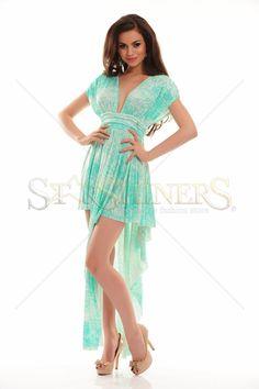 Rochie MissQ Nowadays Green. Rochie MissQ cu spatele decupat si croi asimetric, este in ton cu ultimele tendinte in moda. Cu siguranta nu vei trece neobservata.