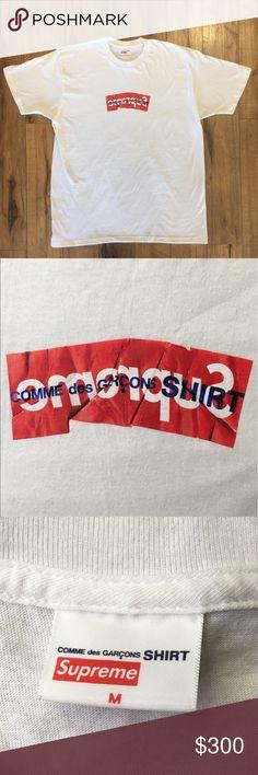 reputable site 5d7ba 13d56 Supreme Comme Des Garçons Box Logo T-Shirt, Medium Worn once, still looks