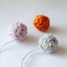 "margele textile ""bubu"" oranj, gri, lila de sognami Breslo"