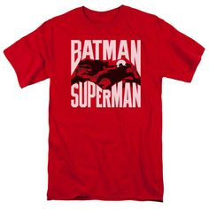 Batman vs Superman Silhouette Fight T-Shirt