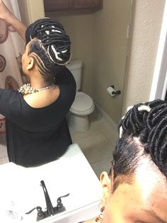 Faux locs saved sides