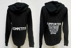 Fitness Competitor hoodie sweatshirt. by StrongGirlClothing
