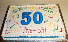 50th birthday cake for man | 50th birthday cake~ full sheet