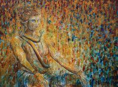 Shiva meditating.