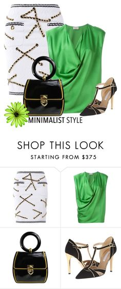 """moschino minimalist"" by rvazquez ❤ liked on Polyvore featuring Moschino, Lanvin and Diane Von Furstenberg"