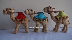 CANAL CROCHET: Camello amigurumi patrón libre.