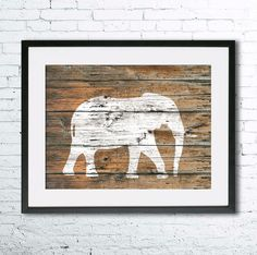 Elephant 5 art illustration print, Elephant painting, Wall art,Rustic Wood art, Animal print, Home Decor, Elephant silhouette,Kitchen decor  Printed especially for you!  CUSTOMISATION Please dont hesitate to contact me for personalization and/or change of colors or dimensions. SIZE  Standard sizes, fit in frames found in big shops like IKEA • 5x7(13cmx18cm) - leaving extra for matting • 8x10(20cmx25cm) - leaving extra for matting - US • 8x12(20cmx30cm) - leaving extra for matting - EU • ...