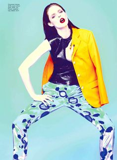 Coco Rocha Flare Magazine January 2012