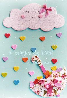 Créditos: Ana Paula Merigo Kids Crafts, Foam Crafts, Crafts To Make, Paper Crafts, Pinky Games, Baby Shower Fingerprint, School Board Decoration, 100 Day Of School Project, Diy Wall Art