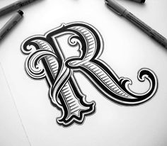 #throwback to my favourite sketches: letter R #lettering #typography #customlettering #ink #handmade #blackwhite #letter #design #graphicdesign #capitalletter #symbol #goodtype #typographyinspired...