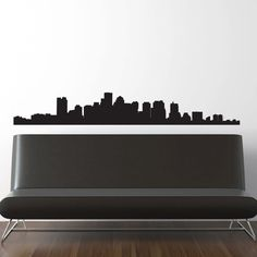 Boston Skyline Wall Decal - Vinyl Sticker Free Shipping