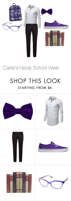 """""""Carter's Nerdy School Wear"""" by missgliter ❤ liked on Polyvore featuring Napoli, Dolce&Gabbana, Vans, Fendi, men's fashion and menswear"""