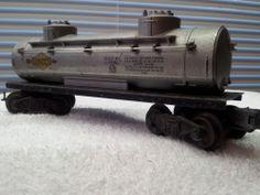 Vintage Lionel SUNOCO Silver Tank Car #6465 1947 Good Condition