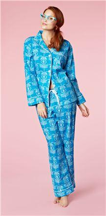 845d3702f6 Blue Seahorse Poplin L S Classic PJ 1002-P-5621 Fashion Videos