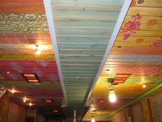 Several Royal Design Studio Stencil patterns grace the ceiling of DC's Pacifico Cantina Restaurant | Artistry: O'Neill Studios